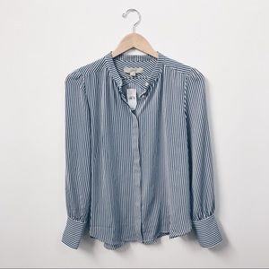 cef7caf629ee17 LOFT Tops   Striped Crossover Back Utility Blouse Nwt   Poshmark